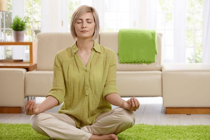 woman meditating for anxiety
