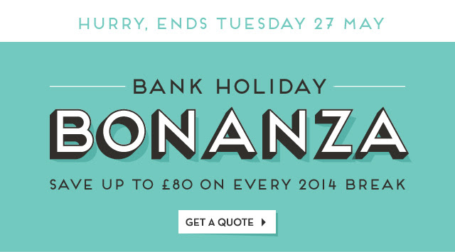 Save Up to £80  OFF Bank Holiday Bonanza On Every 2014 Break at Butlins.com