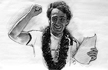 Harvey Milk Sketch - 2 by Thomas Haller Buchanan