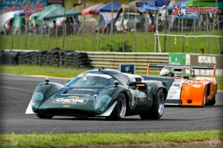 The day's quickest lap times should be set during the races for Pre-1974 International Sports Prototypes, led by the Genie Lola T70 of Roman de Beer