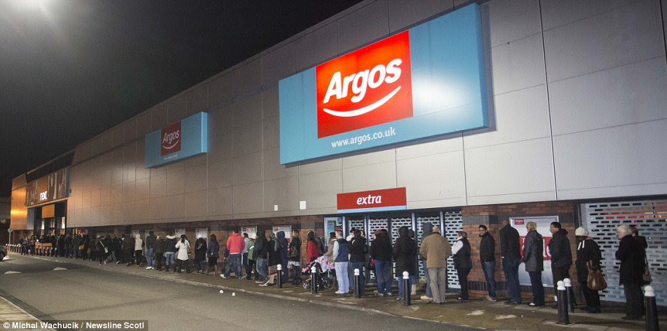 Anticipation: Shoppers queue up for the Next sale at Berryden, Aberdeen