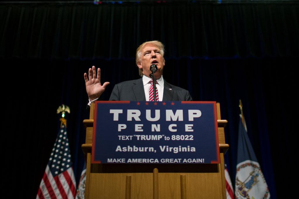 Donald J. Trump spoke on Tuesday in Ashburn, Va.