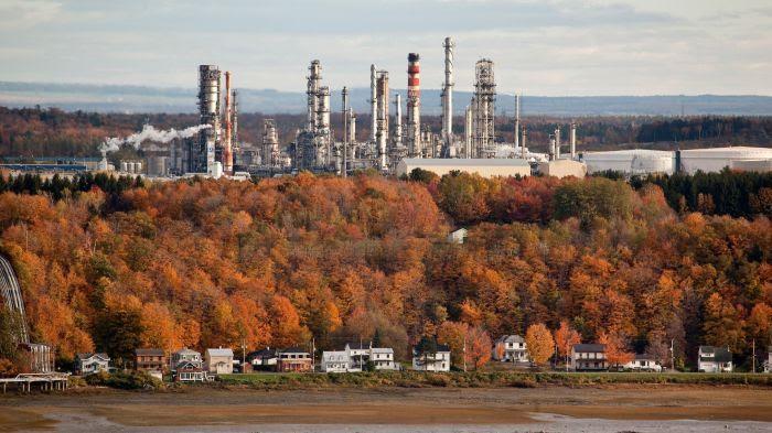 Raffinerie de pétrole au Canada