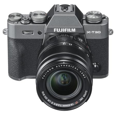 X-T30 Mirrorless Digital Camera Body, with XF 18-55mm F2.8-4 R LM OIS Lens, Charcoal / Sil