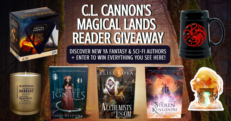 C.L. Cannon's Magic Lands Reader Giveaway Discover mew YA fnatasy and enter to win everything you see here.