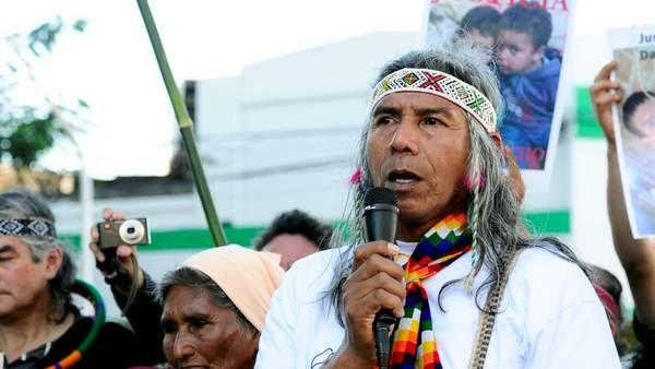 Líder. Félix Díaz denunció que atacaron a tiros las casas de la comunidad.
