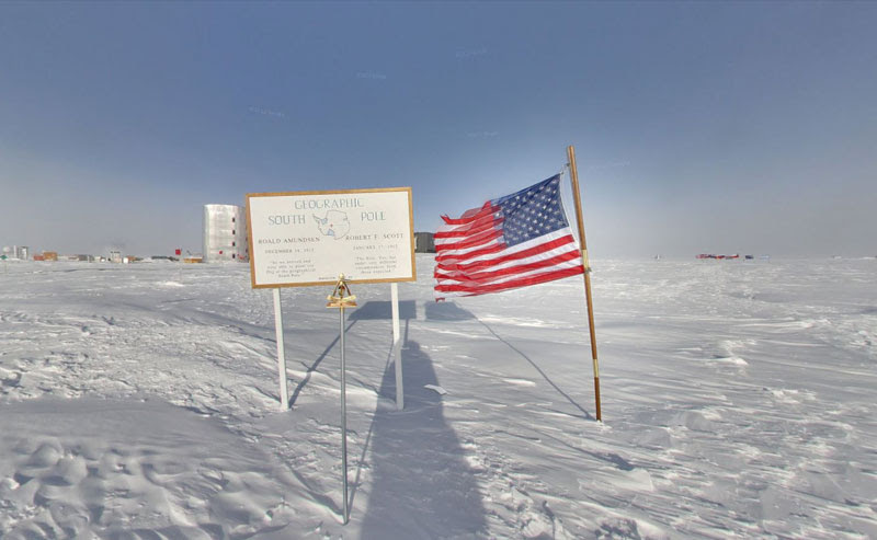 ceremonial south pole 4 Exploring Antarctica with Google Street View