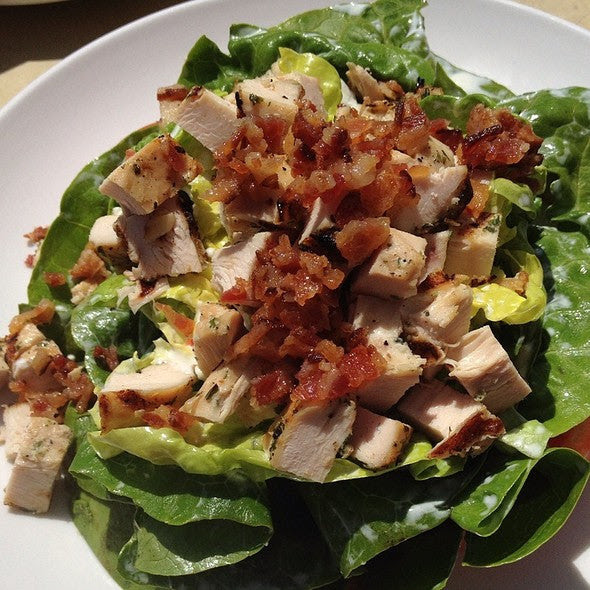 Chicken BLT Salad with Cucumber and Greek Yogurt based Ranch