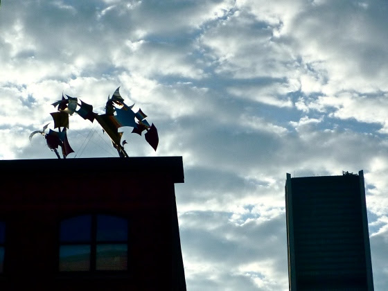 Sculpture on the rooftop in Montreal.