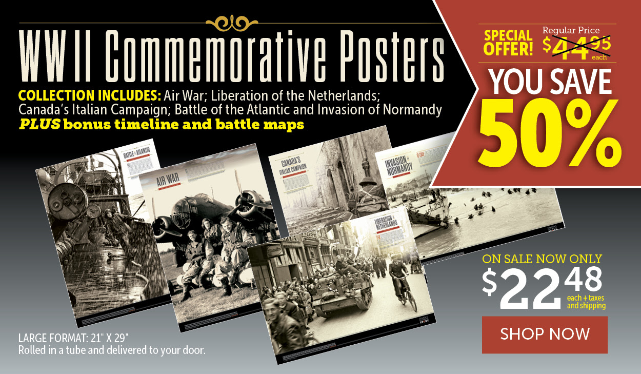 World War II Commemorative Posters 50% off!