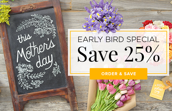 MOTHER'S DAY SPECIAL - SAVE 25%
