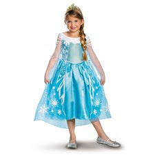Popular costumes on sale, including Frozen