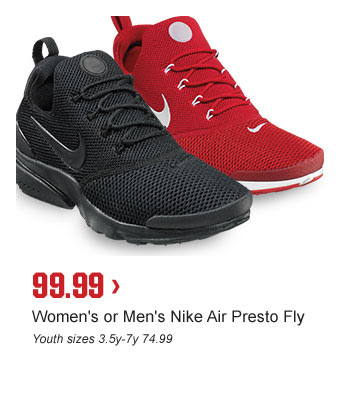 99.99 > | Women's or Men's Nike Air Presto Fly | Youth sizes 3.5y-7y 74.99