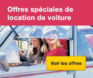 Offres spéciales de location de voiture