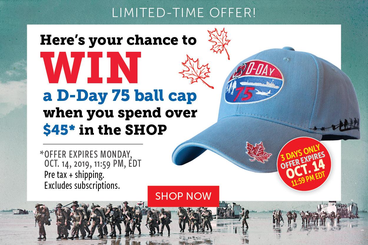 Win a D-Day 75 ball cap