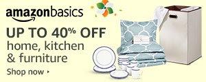 Up to 40% off Amazon Basics