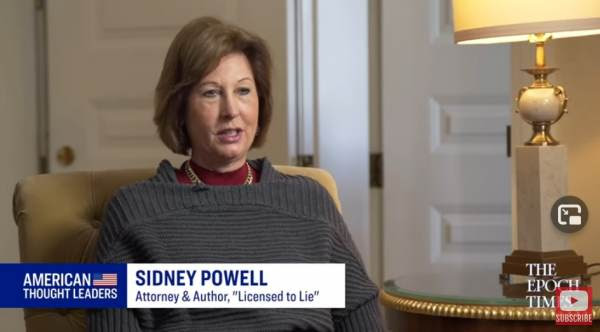 """""""Irrefutable Proof Is Coming Soon – We Are NOT Done"""" – Sidney Powell Responds to Supreme Court Decision to Ignore Election Fraud Sidney-Powell-on-Amer-Thought-Leaders-600x332"""