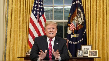 El presidente Donald Trump en un discurso a la Nación, en Washington, el 8 de enero de 2019.