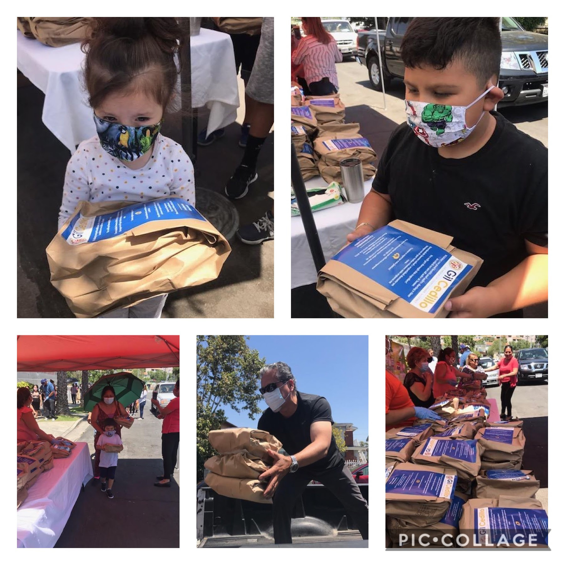 Arroyo Arts Collective, Club Cora Huichol and Rosty Restaurant hot meals to neighbors in Sycamore Grove 5-27-2020 COLLAGE