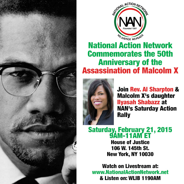 Ilyasah at NAN Saturday action rally 2/21!