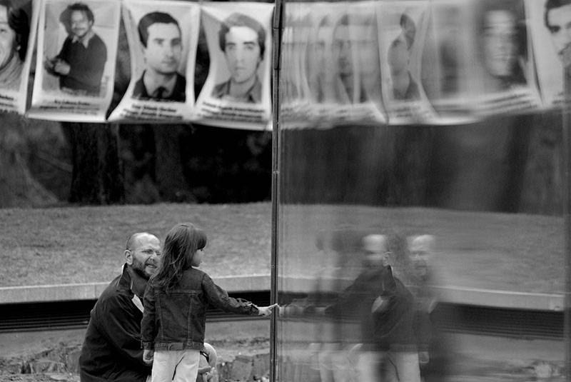 Memorial de los desaparecidos, en el Parque Vaz Ferreira del Cerro de Montevideo. / Foto: Javier Calvelo (archivo, diciembre de 2008)