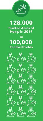 128,000 Acres of Hemp Planted in the US in 2019 Equivalent to 100,000 Football Fields