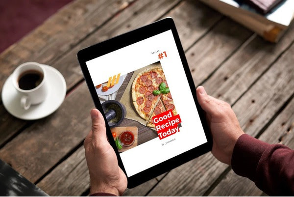 Recipes eBook PowerPoint Mockup
