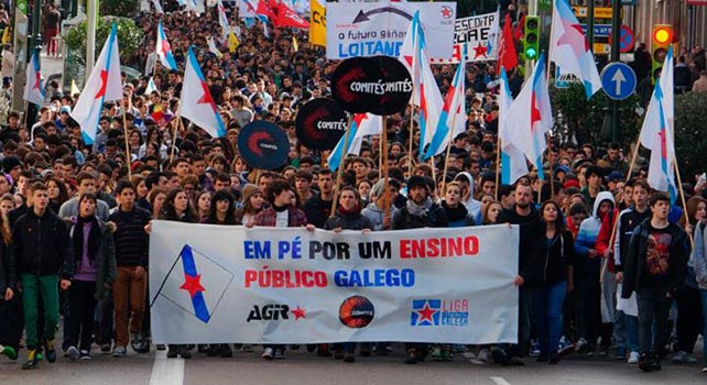 Manifestación en Vigo.