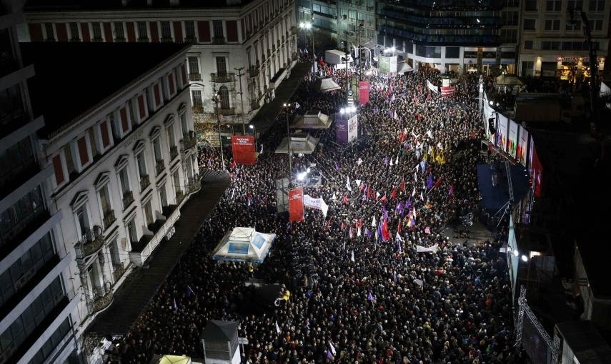 Vista general del mitin de cierre de campaña de Syriza, en Atenas. REUTERS/Marko Djurica