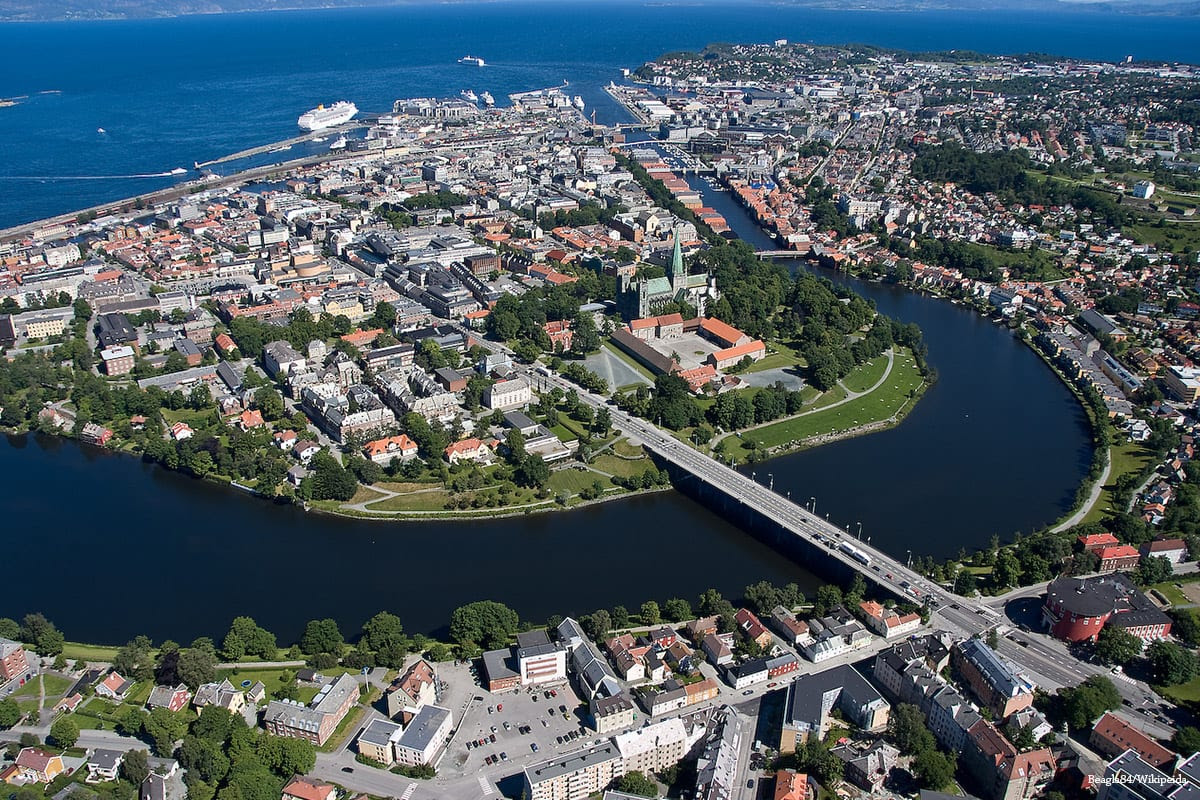 Norway's third largest city Trondheim Norway [Beagle84/Wikipeida]