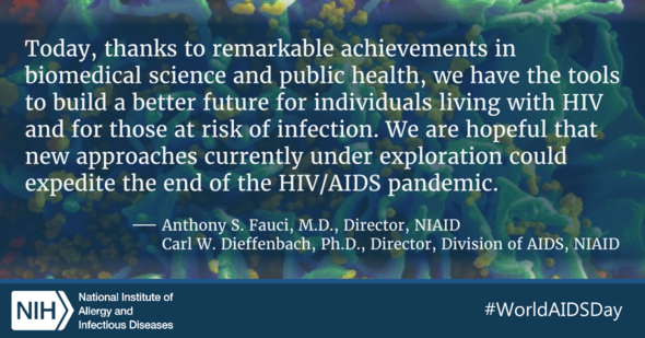 Quote by Anthony Fauci and Carl Dieffenbach