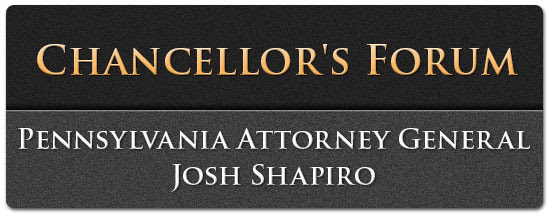Chancellor's Forum - Pennsylvania Attorney General Josh Shapiro