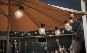Socialite 20' Solar Patio Edison LED String Lights (1-, 2-, or 4-Pack)