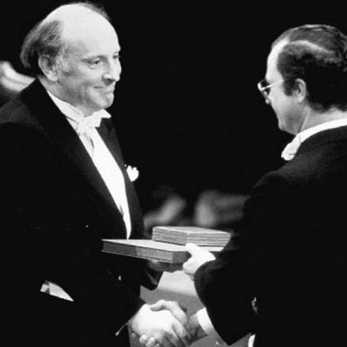 Иофис Бродский. Вручение Нобелевской премии.