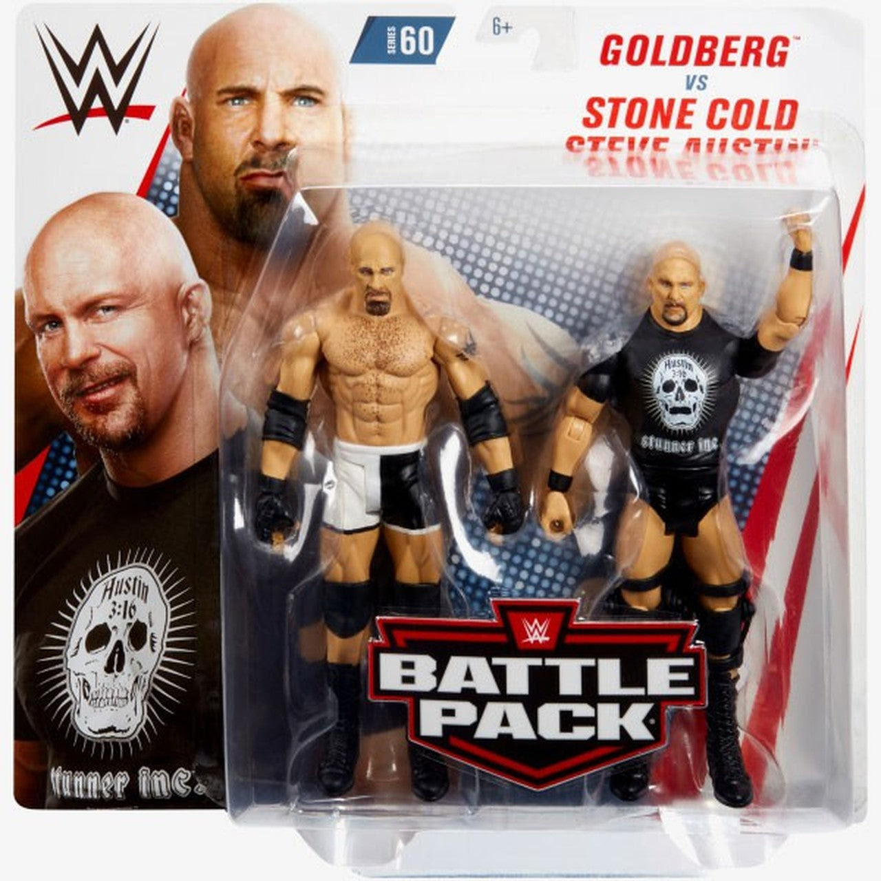 Image of WWE Battle Packs Series 60 - Goldberg & Stone Cold Steve Austin - AUGUST 2019