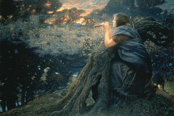 Edward Robert Hughes - Fantazie za soumraku (1911)