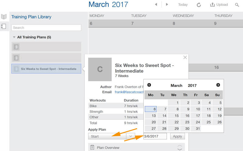 TrainingPeaks Plan Setup