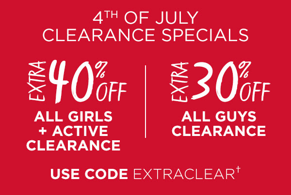 Extra 40% Off All Girls Clearance