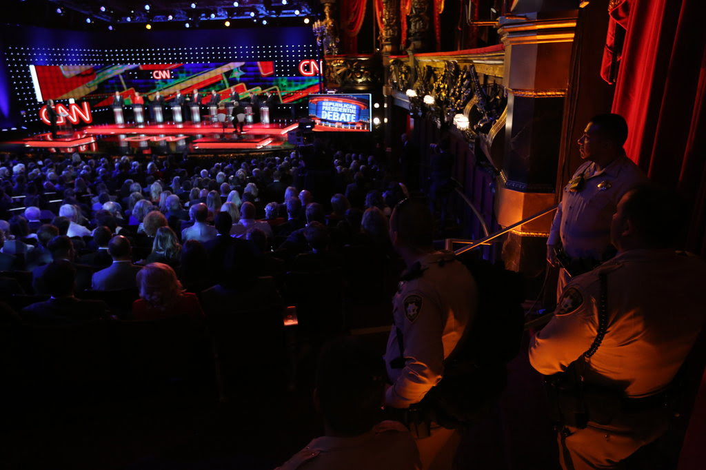 The Republican presidential debate hosted by CNN in Las Vegas on Tuesday.