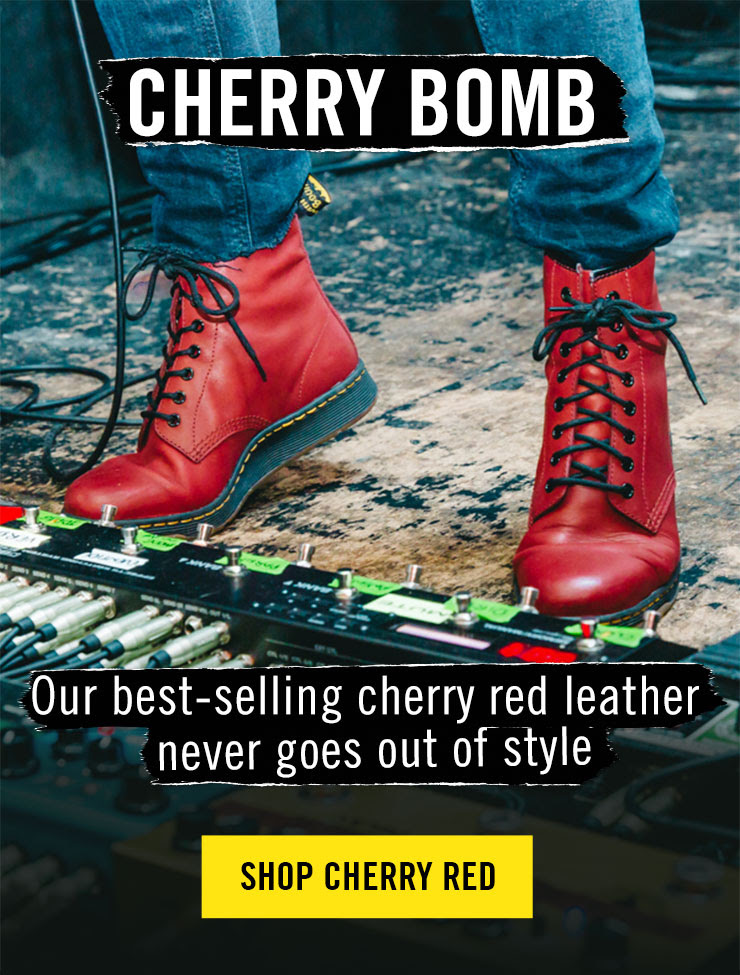 Cherry Bomb - Our best-selling cherry red leather never goes out of style - Shop Cherry Red