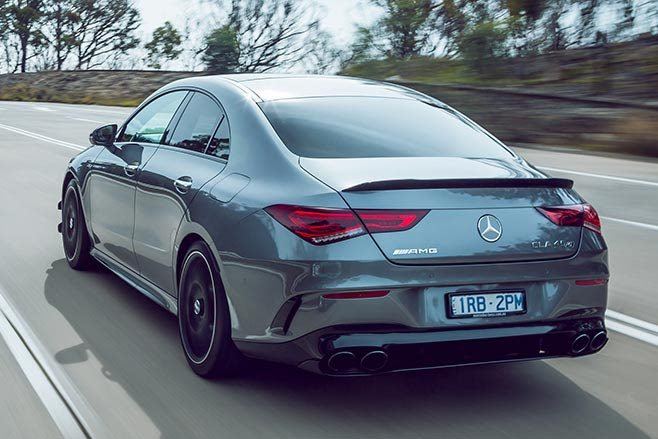 AMG CLA45 S driving