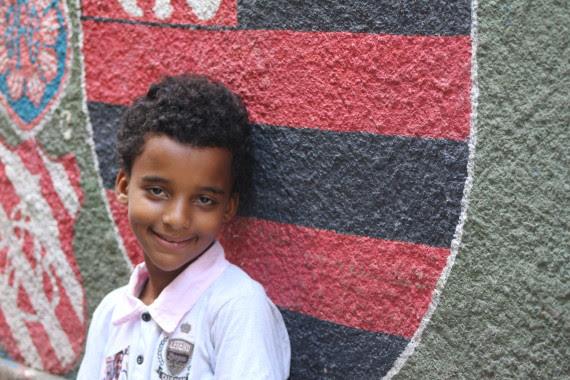 A child from Mangueira, one of the favelas of Rio de Janeiro