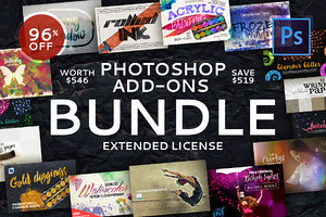 Photoshop Add-Ons Bundle 96% Off