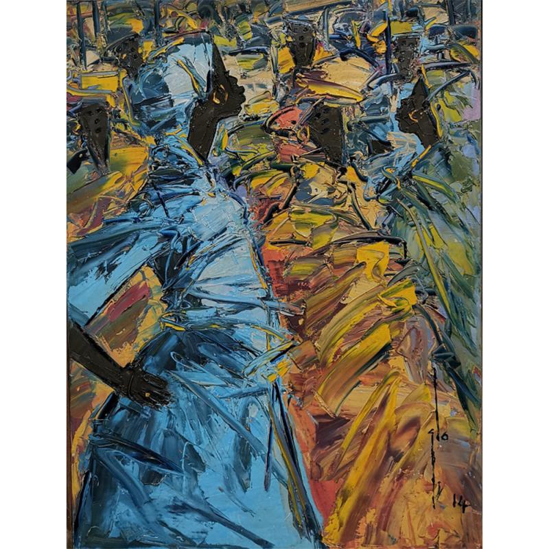 <em>Confrontation by Ablade Glover, <br>presented by LouiSimone Guirandou Gallery<br><br></em>