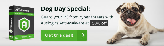 Auslogics Anti-Malware Dog Day Special Sale