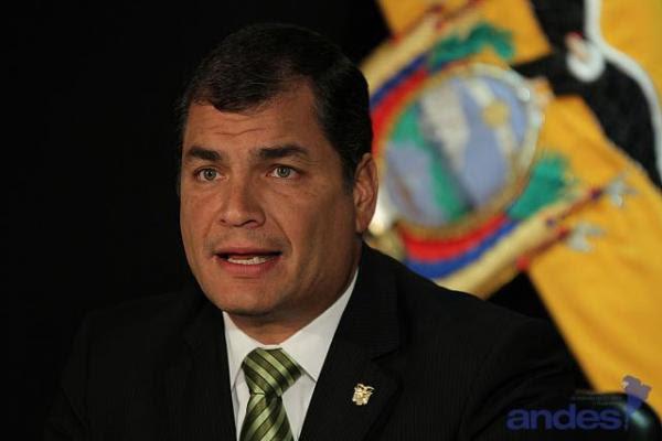 El presidente de la República de Ecuador Rafael Correa
