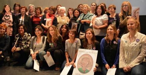 Candidatas de Ahora Madrid, con Manuela Carmena en el centro
