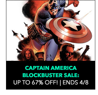 Captain America Blockbuster Sale: up to 67% off! Sale ends 4/8.
