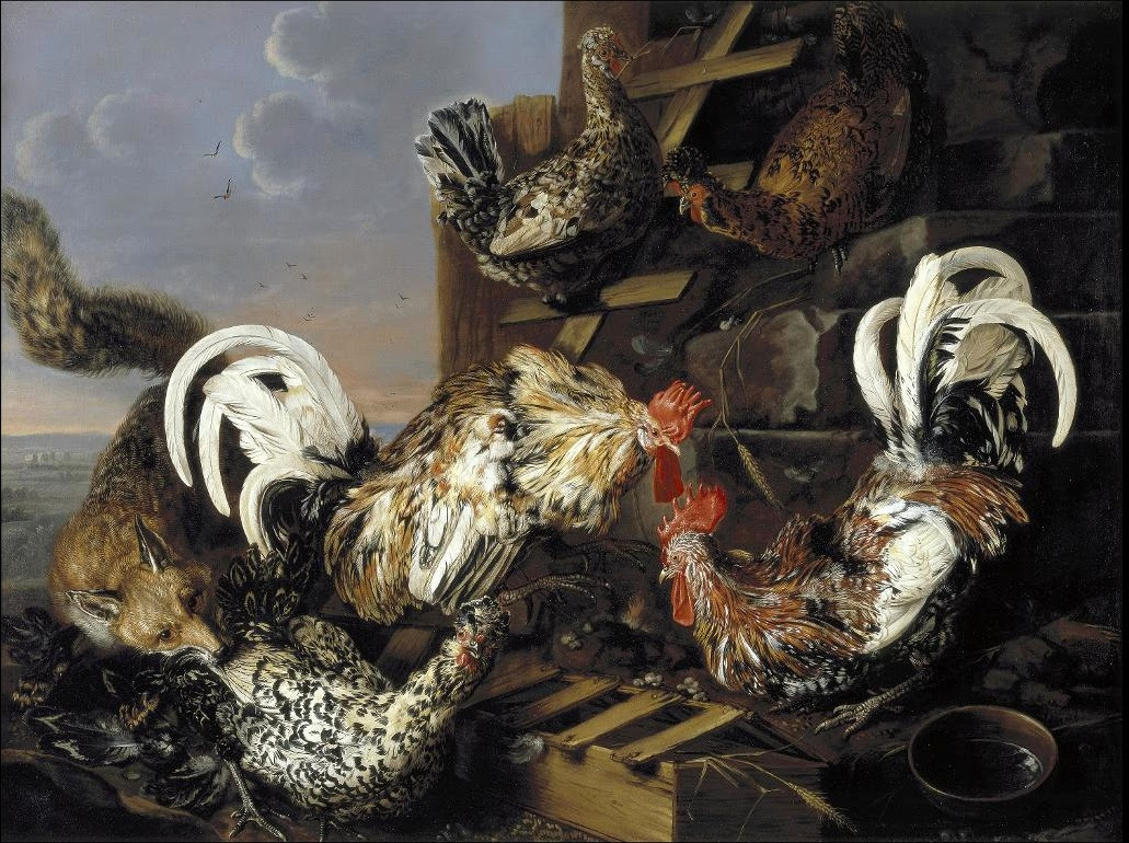 https://upload.wikimedia.org/wikipedia/commons/e/e0/Carstian_Luyckx_-_Fowl_Attacked_by_a_Fox.jpg