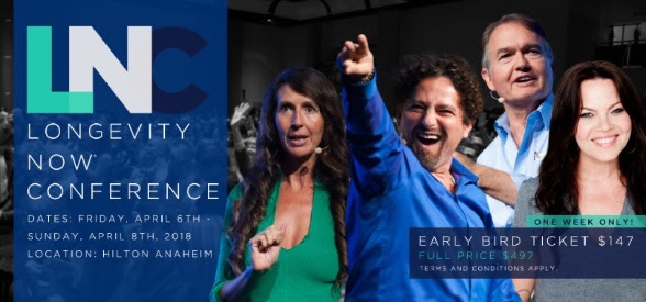The Longevity Now Conference Early Bird Offer